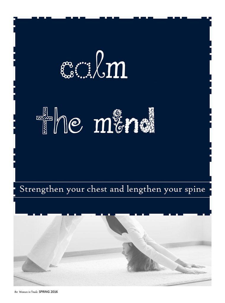 Calm the mind - Yoga studio Surya