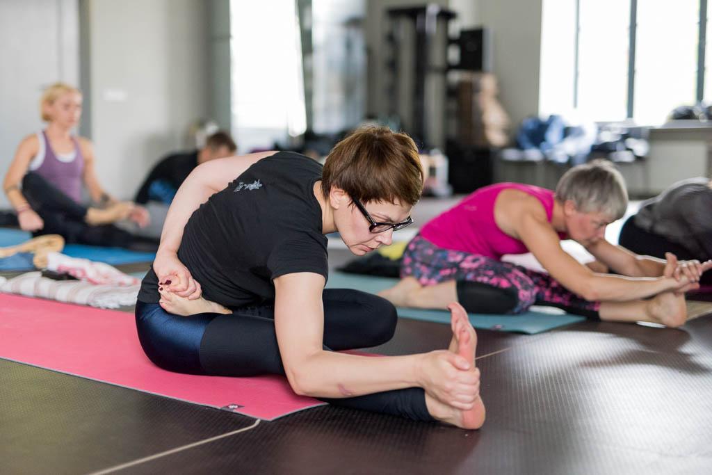 Aštanga joga seminaro akimirkos