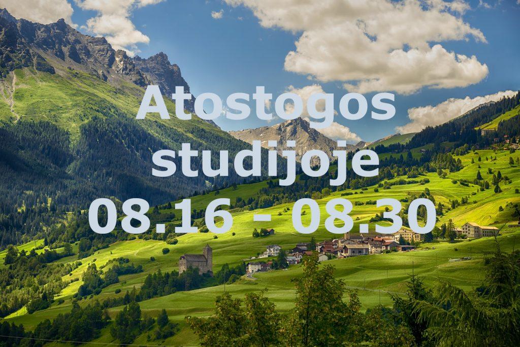 Jogos Studijoje Surya atostogos nuo rugpjūčio 16 d. iki rugpjūčio 30 d.