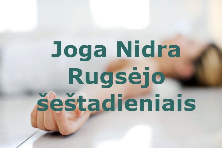 Joga Nidra 2021 m. rugsėjo šeštadieniais